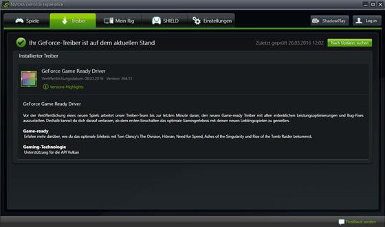 Скриншот программы geforce game ready driver