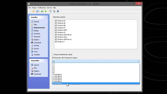 Скриншот программы smart install maker