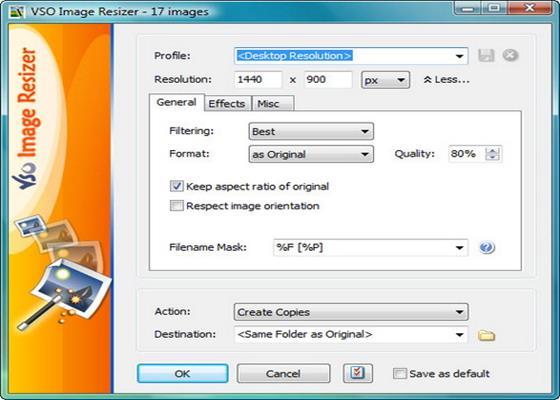 Скриншот программы vso image resizer