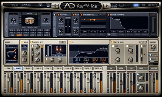 Скриншот программы addictive drums
