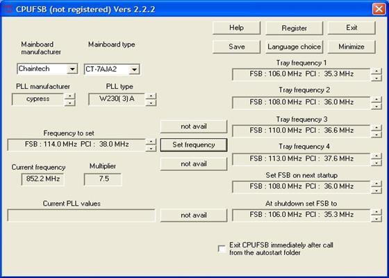 Скриншот программы cpufsb
