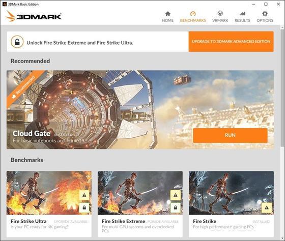 Скриншот программы 3dmark