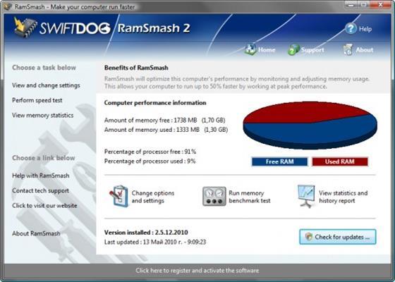 Скриншот программы ramsmash