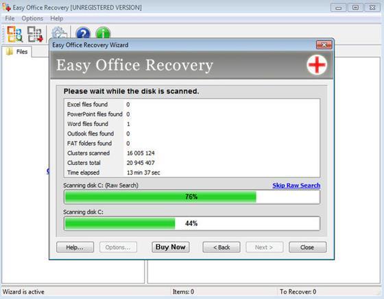 Скриншот программы easy office recovery