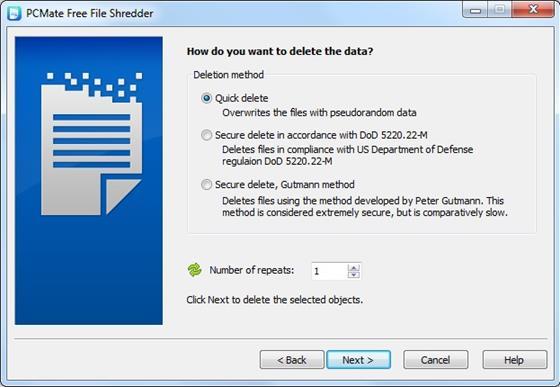 Скриншот программы file shredder