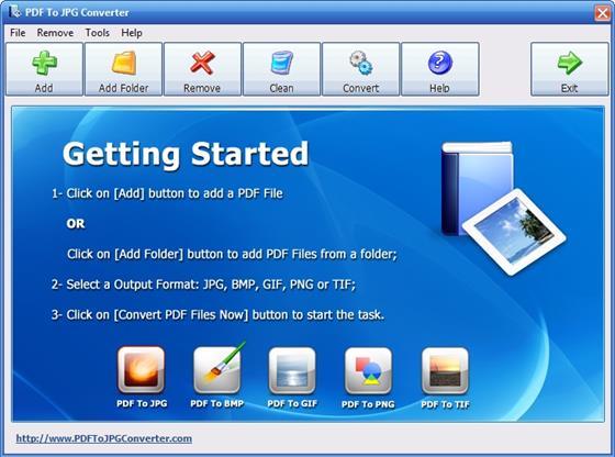 Скриншот программы image to pdf converter