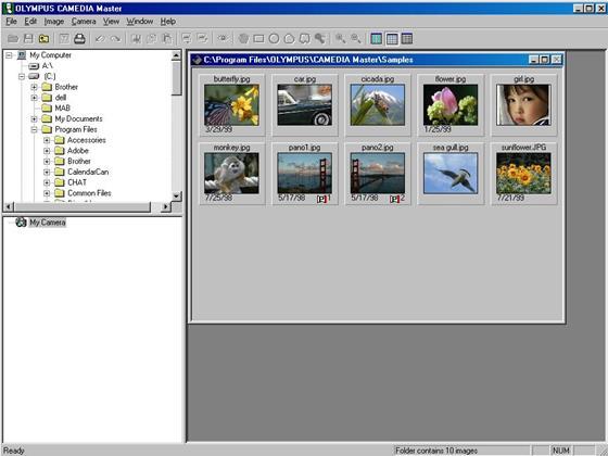Скриншот программы olympus master