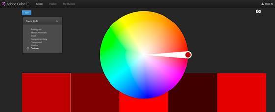 Скриншот программы adobe color cc