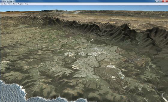 Скриншот программы nasa world wind