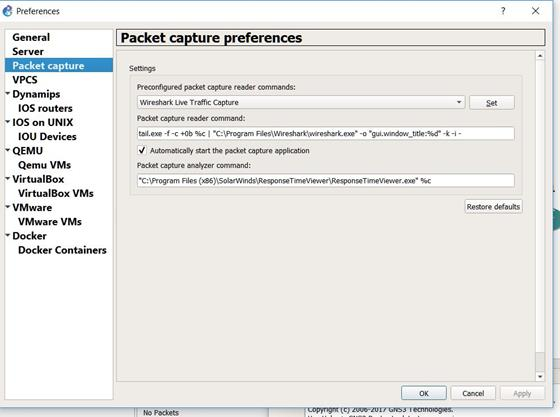 Скриншот программы wireshark