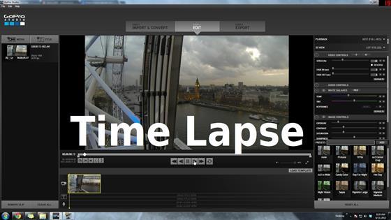 Скриншот программы gopro studio