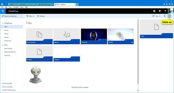 Скриншот программы onedrive