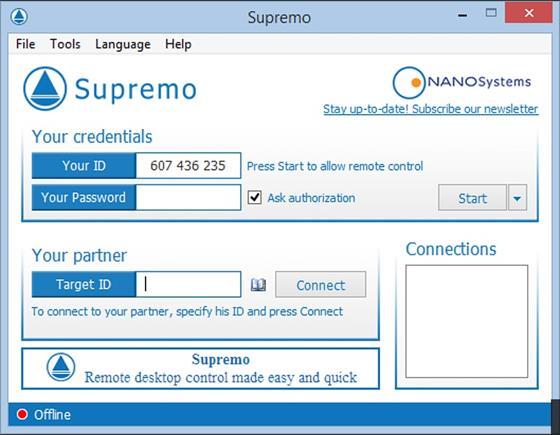 Скриншот программы supremo