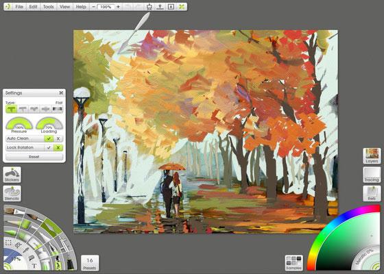 Скриншот программы artrage pro