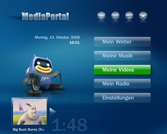Скриншот программы mediaportal