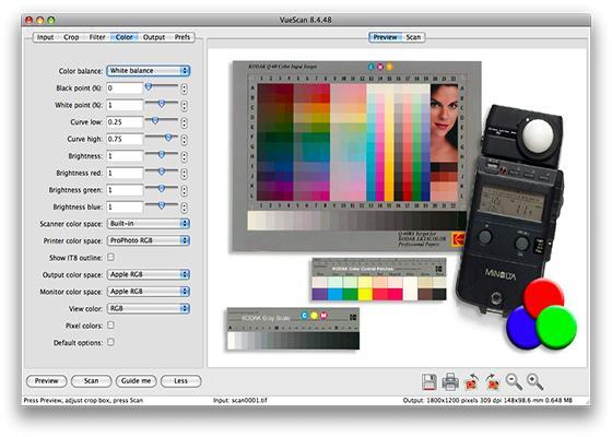 Скриншот программы vuescan для windows 7
