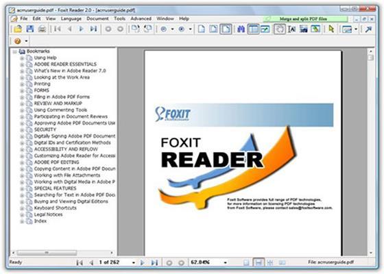 Скриншот программы foxit reader
