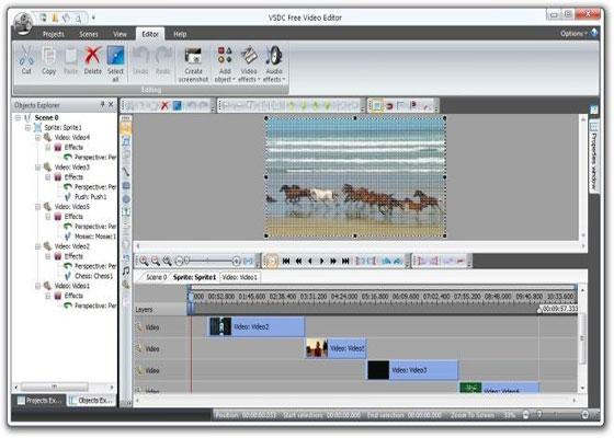 Скриншот программы vsdc free video editor