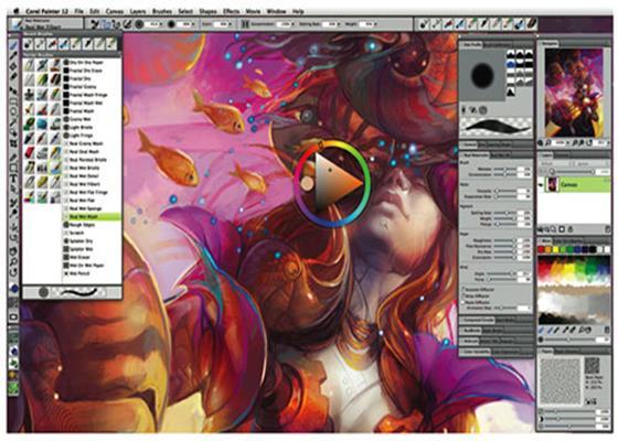 Скриншот программы corel painter