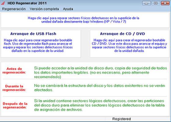 Скриншот программы hdd regenerator