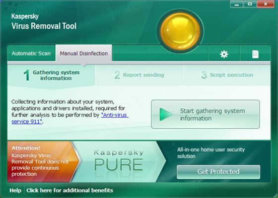 Скриншот программы kav removal tool