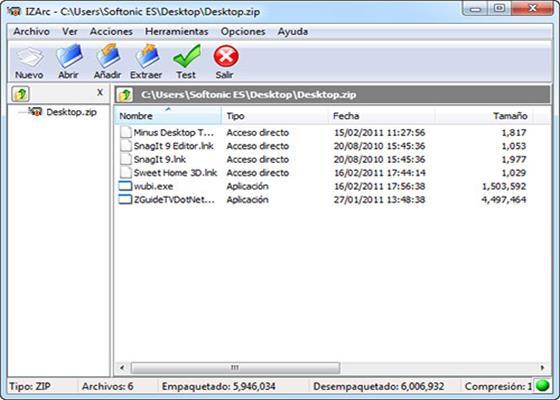 Скриншот программы izarc