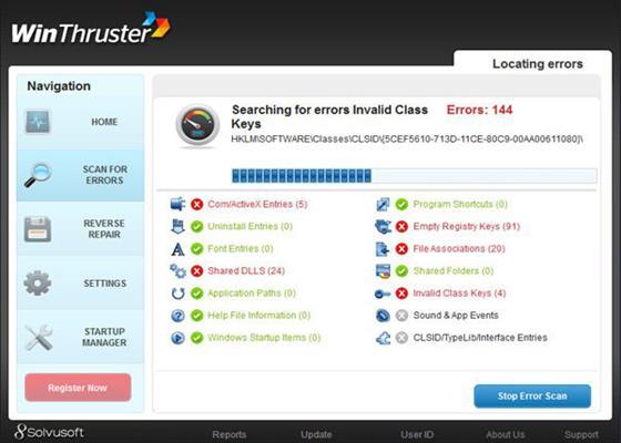 Скриншот программы winthruster