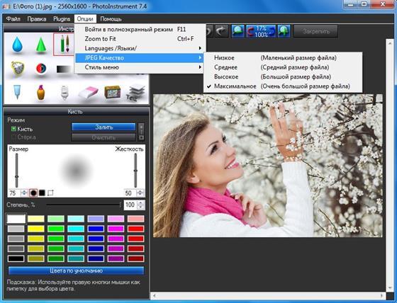 Скриншот программы photoinstrument