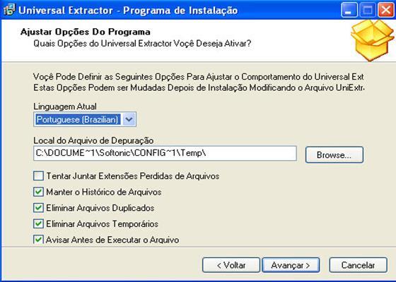 Скриншот программы universal extractor для windows 7