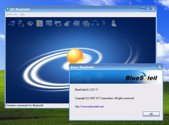 Скриншот программы bluesoleil