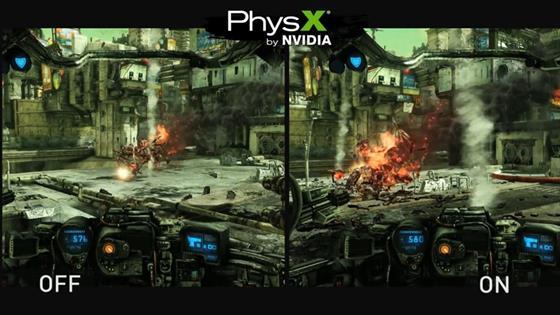 Скриншот программы nvidia physx