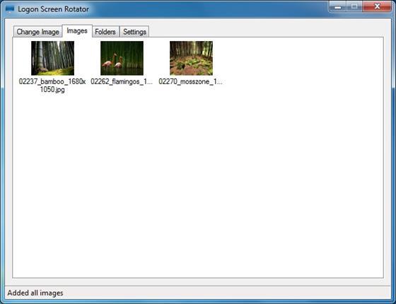 Скриншот программы logon screen