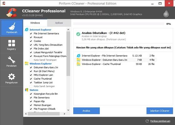 Скриншот программы ccleaner для windows 10